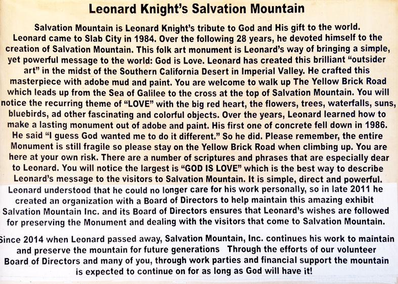 Salvation Mountain info